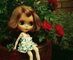 Fleur loves flowers