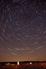 birlinggap_set2trails (baskill) Tags: birling gap star trails north sky astronomy sussex night polaris ursa major england