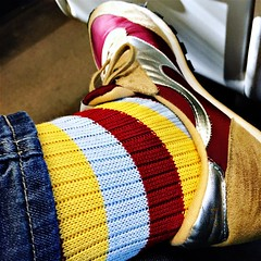 Sock matching (badger_beard) Tags: socks colour color colourful colorful chausettes socken meias calzini strumpor calcetines trainers sneakers pairing matching trickett trickettengland norman walsh