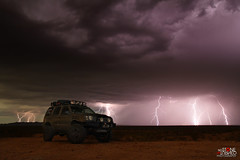 Storm chasing (No Stone Unturned Photography) Tags: storm chasing chaser arizona monsoon weather lightning strike long exposure nissan xterra lifted desert night sky