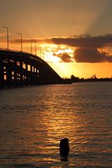 SUNRISE OVER THE BRIDGE (R. D. SMITH) Tags: dawn bridge river sunrise morning indianriver canoneos7d naturephotography