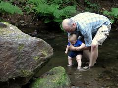 first dip (carolyn_in_oregon) Tags: mthood al allie jacob lostcreek mthoodnationalforest camping oregon