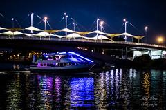 Puente de la expiracion (abeliyo) Tags: sevilla puente expiracion noche nigth barco nocturna