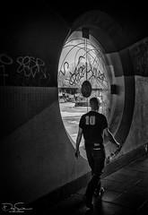 circle window-Bristol (Daz Smith) Tags: dazsmith canon6d bw blackwhite blackandwhite bath city streetphotography people candid canon portrait citylife thecity urban streets uk monochrome blancoynegro circle window graffiti arch