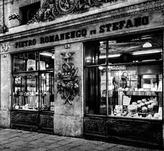 """""""Confectionery"""". (giannipaoloziliani) Tags: giannipaoloziliani spirit confectionery streetphotography dolci genova hdr jellies marronsglaces jams sucre sugar vetrine italy streetart art confetti candy chocolate downtown windows centre historical shop old fruits cakes gateaux"""