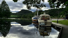 Safe harbour along the Telemark Canal in Norway. iphone6+ (JRJ.) Tags: norge norway canal waterways landscape telemark henrik ibsen nature visitnorway outdoor