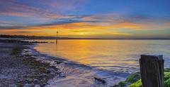 Avon Beach Clouds (nicklucas2) Tags: avonbeach dorset seascape beach groyne sand sea seaside solent sun sunrise water cloud