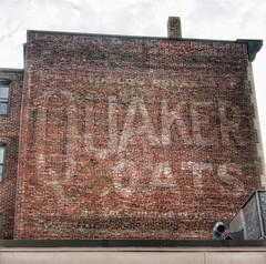 Quaker Oats Ghost (podolux) Tags: ghostsign paintedsign walladvertising quakeroats quakeroatsghostsign a6000 sonya6000 snapseed ad wallad postprocessing september2016 2016 roadtrip