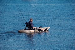 Kayak Fishing (Merrillie) Tags: nsw nature saratoga centralcoastnsw fishing davistown australia boat kayak waterscape nswcentralcoast centralcoast newsouthwales fisherman