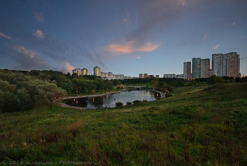 Park Olympic Village-80. Sunset.