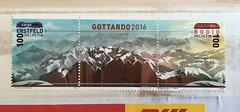 Swiss national pride communicated through FF DIN (Albert-Jan Pool) Tags: briefmarke stamp helvetia alptransit bodio erstfeld gotthard gotthardtunnel gottardo2016 type:face=ffdin