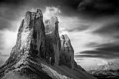 Imponenza (Le foto di Marietta) Tags: lavaredo cime tre trentino trentinodolomiti dolomiti dolomites italy italia mountain montagna blackandwhite