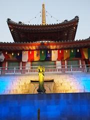 Spiritual colors (brisa estelar) Tags: temple buddhist colors lightup blue golden sky red shingon koushoji traditional japan asia bodhisattva outdoor
