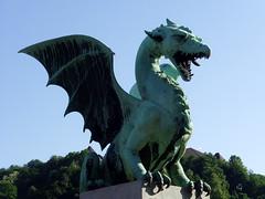 Ljubljana, Slovenia - Dragon Bridge (johnnysenough) Tags: 40 ljubljana dragonbridge zmajskimost republikaslovenija slovenia slovenije slovnie eslovenia slowenien europe eu capitalcity historicbuildings 100citiesx1trip travel snv34853 johnnysenoughhepburn