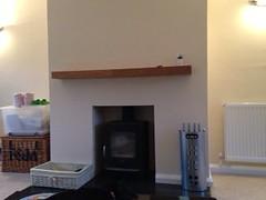 Emma Beamish (oak shelf) (Designer Fireplaces) Tags: shelf stove hearth