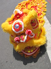 Chinese Lion Dance Heads (shaire productions) Tags: red yellow asian dance asia dragon decorative chinese lion culture martialarts dancer celebration luck lucky kungfu heads tradition creature decor legend myth cultural