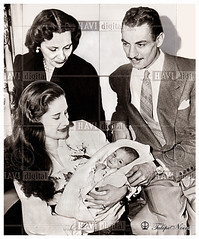 Princess Fathia at The Hospital holds her baby son Rafik; with her husband Riad Ghali & Queen Mother Nazli In November 1952 (Tulipe Noire) Tags: africa usa baby hospital princess egypt middleeast son queen 1950s egyptian nazli 1952 fathia