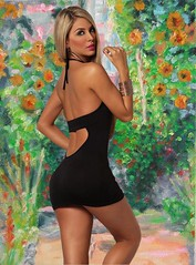 The secret garden (cuto amidei) Tags: woman beautiful photoshop garden women memories memory 1001nights flickrestrellas ringexcellence flickrstruereflection1 flickrstruereflectionlevel1 rememberthatmomentlevel1