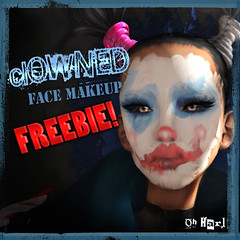 Oh Harl - clOWNED makeup (FREEBIE YO!) (   (not taking clients)) Tags: silly tattoo circus clown makeup secondlife sideshow harl freebie sideshowfreaks clownmakeup clowned tattoolayer harleyquinade ohharl
