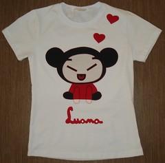 Pucca (Kaasf) Tags: artesanato artesanal patch patchwork camiseta customizada estilizada patchcolagem caamis patchapliqué patchapliqueé