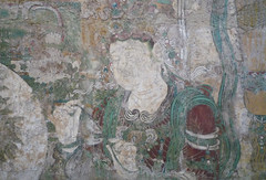 Buddha of Medicine Bhaishajyaguru, detail with figure