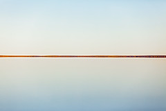 Dune reflected in Flooded Lake Eyre. (claypanpete) Tags: landscape flood dune minimalist lakeeyre petercarroll weeklyplustens katithanda