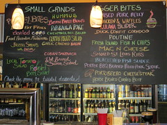 Chalkboard food list, REAL a Gastropub