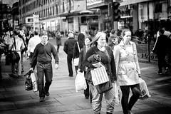 Grumpy Street (stephen cosh) Tags: life street city people blackandwhite bw sepia mono scotland town unitedkingdom glasgow candid streetphotography rangefinder reallife humancondition blackandwhitephotos 50mmsummilux blackwhitephotos leicam9 stephencosh leicammonochrom leicamm