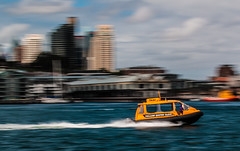 Water Taxi (Anthony Quinsey) Tags: water point taxi sydney blues panning