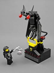 Blacktron Vulture-Goyle (halfbeak) Tags: lego evil gargoyle kitteh minifig vulture vile biomechanical moc deadcat ncs blacktron classicspace