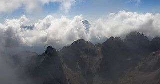 Cloud over the Dolomites
