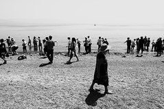 Perch avete Paura (bebo82) Tags: sea people blackandwhite bw lake lago israel mare riva pentax jesus persone shore biancoenero israele galilea ges tiberiade pentaxk20d pentaxk20