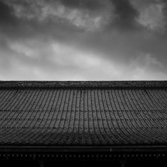 roof lines (StephenCairns) Tags: blackandwhite bw japan canon tile shadows patterns textures    gifu neighbourhood traditionaljapan ceramictile motosu   templeroof  stephencairns canon5dmarkii    mydaughtersspendanighthereeverysummerkidsonly ivegotathingforjapaneseroofsthatbordersonafetish
