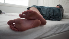 Rest (Daniela Liverani) Tags: boy sleeping white feet bed dirty soles