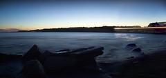 Newport, Rhode Island (Nick Mulcock) Tags: ocean sunset mist fall beach water night 35mm canon stars island twilight haze rocks boulevard time mark rhodeisland ii newport 5d rhode blvd lapse nightfall 14l