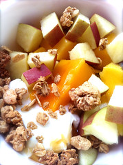 05 mango and apple and yogurt breakfast (Stephanie M. Casey) Tags: breakfast greek yogurt fage