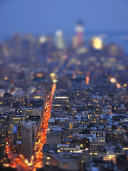 Broadway by night from above (reflexbeginner) Tags: sanfrancisco nyc bw usa newyork nature america landscape nationalpark nikon honeymoon unitedstates nikkor viaggiodinozze statiuniti d90 wonderfulview