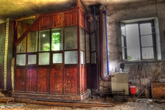 Former Station I (Biancio85) Tags: wood italy abandoned window station architecture nikon italia decay tripod finestra piemonte abandon dust stazione piedmont architettura hdr legno urbex cavalletto polvere abbandono decadenza abbandonata degrado abandonedstation nikkor1855 treppiedi gabbiotto stazioneabbandonata d3100