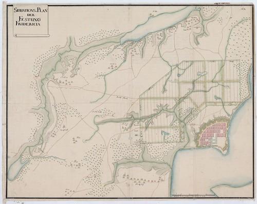 Kort Over Fredericia Ca 1750