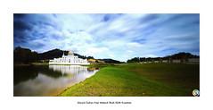 Masjid Sultan Haji Ahmad Shah IIUM Kuantan (SalehuddinLokman) Tags: longexposure lake mosque malaysia slowshutter masjid kuantan pahang 9s nd400 d90 gnd iium