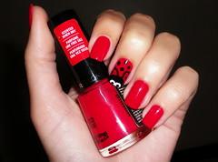 #Desafio10cores10marcas #7. Vermelho (Jeh Goudel) Tags: vermelho joaninha unha revlon esmalte desafio10cores10marcas