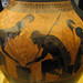Exekias, Attic black figure amphora, detail with Ajax