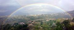 Arcobaleno lauriota (Gianni Lupindo) Tags: italy rainbow italia basilicata photomerge aviary arcobaleno 2009 lauria