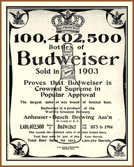 1904 Jan 19, - 'KING of Bottled Beers' - Original Budweiser - A product of the World's Greatest Brewery, Anheuser-Busch Brewing Ass'n, St. Louis, MO (carlylehold) Tags: history st mobile louis stlouis here mo smartphone stories tmobile happens haefner carlylehold solavei haefnerwirelessgmailcom historyhappensherest