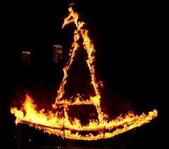 Fire Sculpture by Donna Dodson