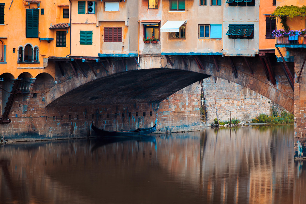 080211407034 Ponte Vecchio (QuikSink) Tags  morning bridge windows italy colour  reflection wet water reflections