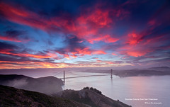 Sunrise Colors Over San Francisco (davidyuweb) Tags: sanfrancisco california bridge usa colors sunrise golden gate san francisco soft ray over 9 filter lee edge 12 reverse graduated density singh neutral gnd