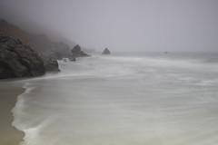Muir Beach (latteda) Tags: ocean california ca mist blur water northerncalifornia rock misty fog canon coast waves slow pacific tide foggy rocky muirbeach t2i