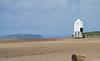 Burnham-On-Sea Lighthouse (Mukumbura) Tags: wood blue light england sky lighthouse reflection beach stairs island coast wooden sand lighthouses mud legs dunes somerset safety mudflats navigation piles burnhamonsea quicksand bristolchannel steepholm lighthouseonlegs summertimeuk