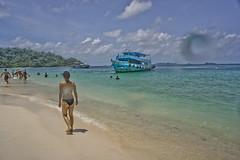 DSC09315 (andrewlorenzlong) Tags: beach water thailand boat sand sam bikini kohchang kohrang kohrangyai korangyai